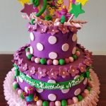 Toddler Girl Birthday Cakes Barney Ba Bop Tiered Birthday Cake Adrienne Co Bakery