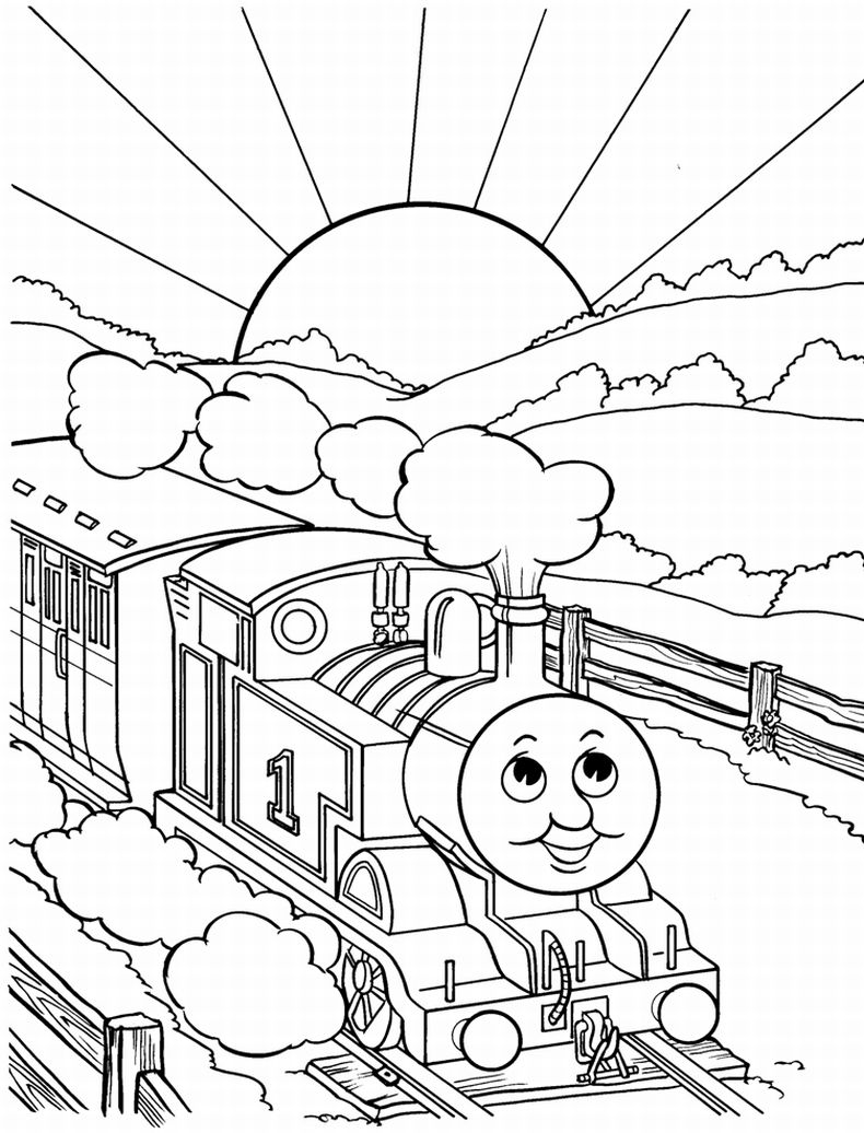 Train Coloring Page Coloring Page Coloring Page Best Train Books Thomas The Pages Book