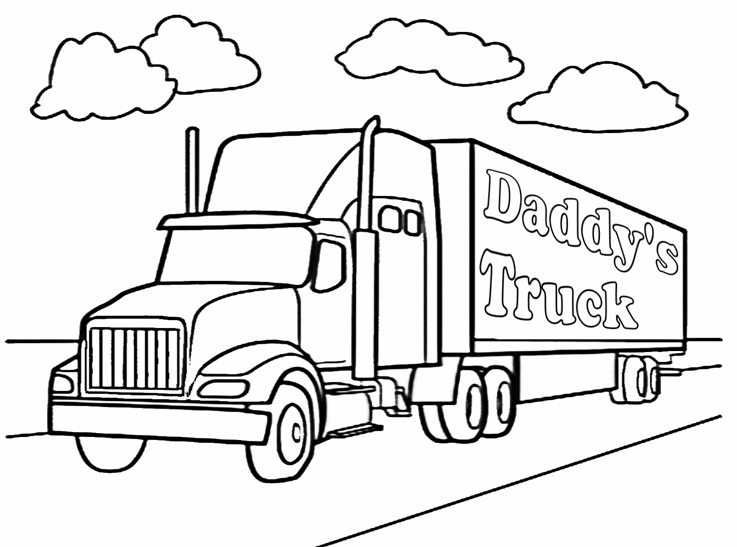 Truck Coloring Pages Complete Semi Truck Coloring Pages 5550 At Neuhne