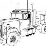Truck Coloring Pages Mack Dumper Truck Coloring Page Wecoloringpage