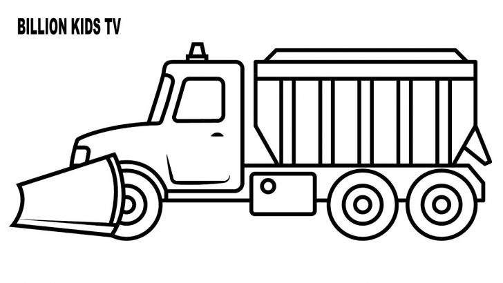 Truck Coloring Pages Noted Snow Plow Coloring Page Direct Obsession Truck 20989 Unknown