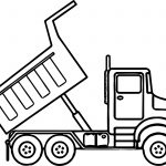 Truck Coloring Pages Scripted Dump Truck Coloring Page Wecoloringpage
