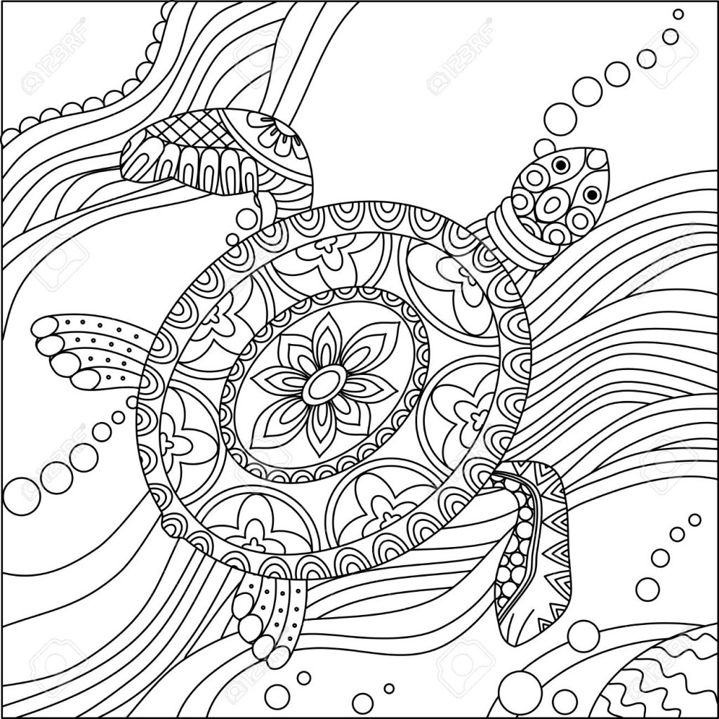Turtle Coloring Pages Coloring Pages Turtle Coloring Pages Adult 1300x1300alistic