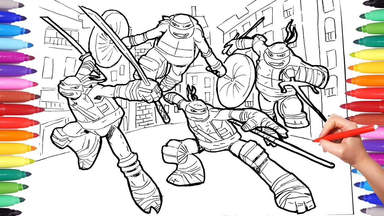Turtle Coloring Pages Teenage Mutant Ninja Turtles Coloring Pages For Kids Tmnt Leonardo