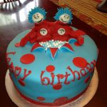 Twin Birthday Cakes A Blissful Bash Dr Seuss Twin Birthday Cakes