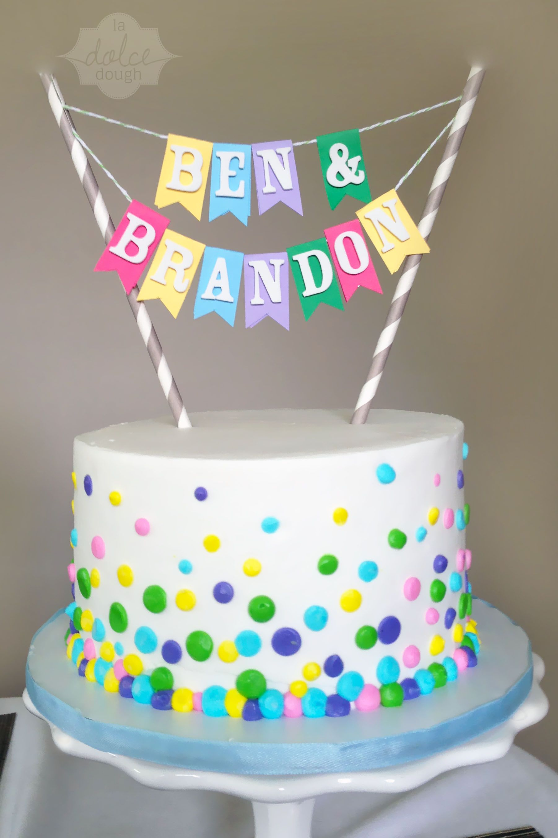 Twin Birthday Cakes Confetti Cake For A Twins Birthday Birthday Desserts Birthday