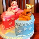 Twin Birthday Cakes Girlboy Twins First Birthday Cake Youtube