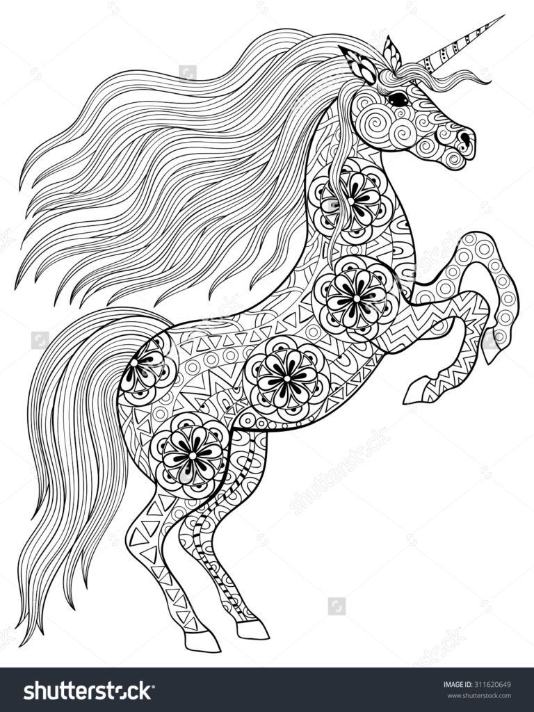 Unicorn Coloring Pages For Adults Coloring Pages 44 Unicorn Coloring Book Printable Image Unicorn