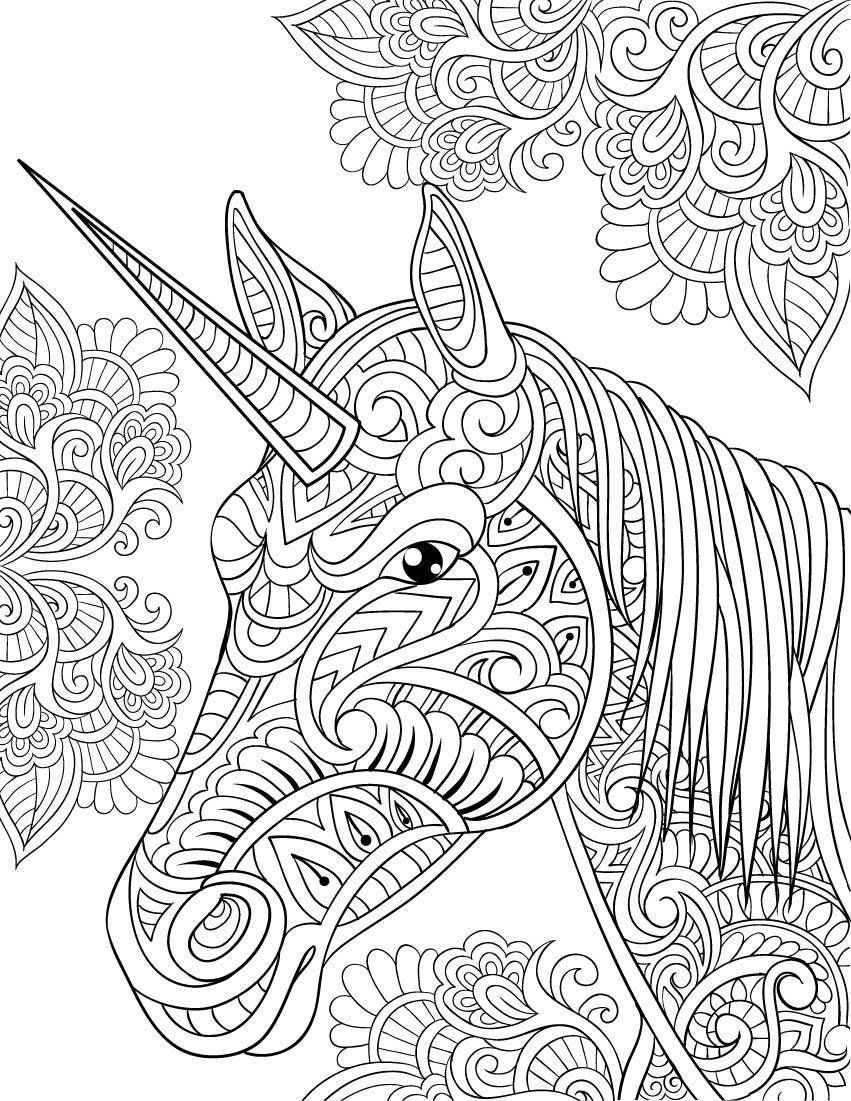 Unicorn Coloring Pages For Adults Unicorn Coloring Pages For Adults Cosmo Scope