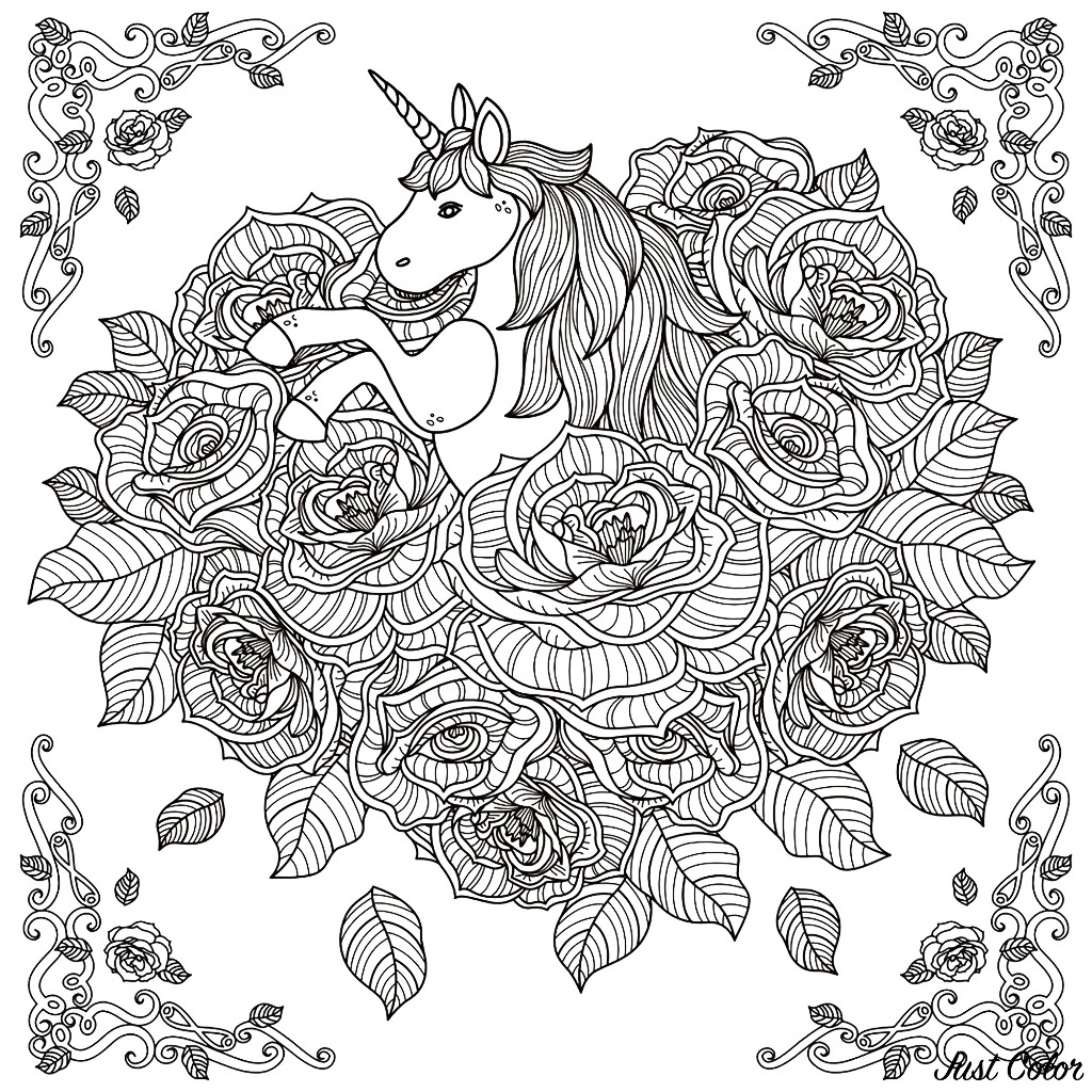 Great Photo of Unicorn Coloring Pages For Adults