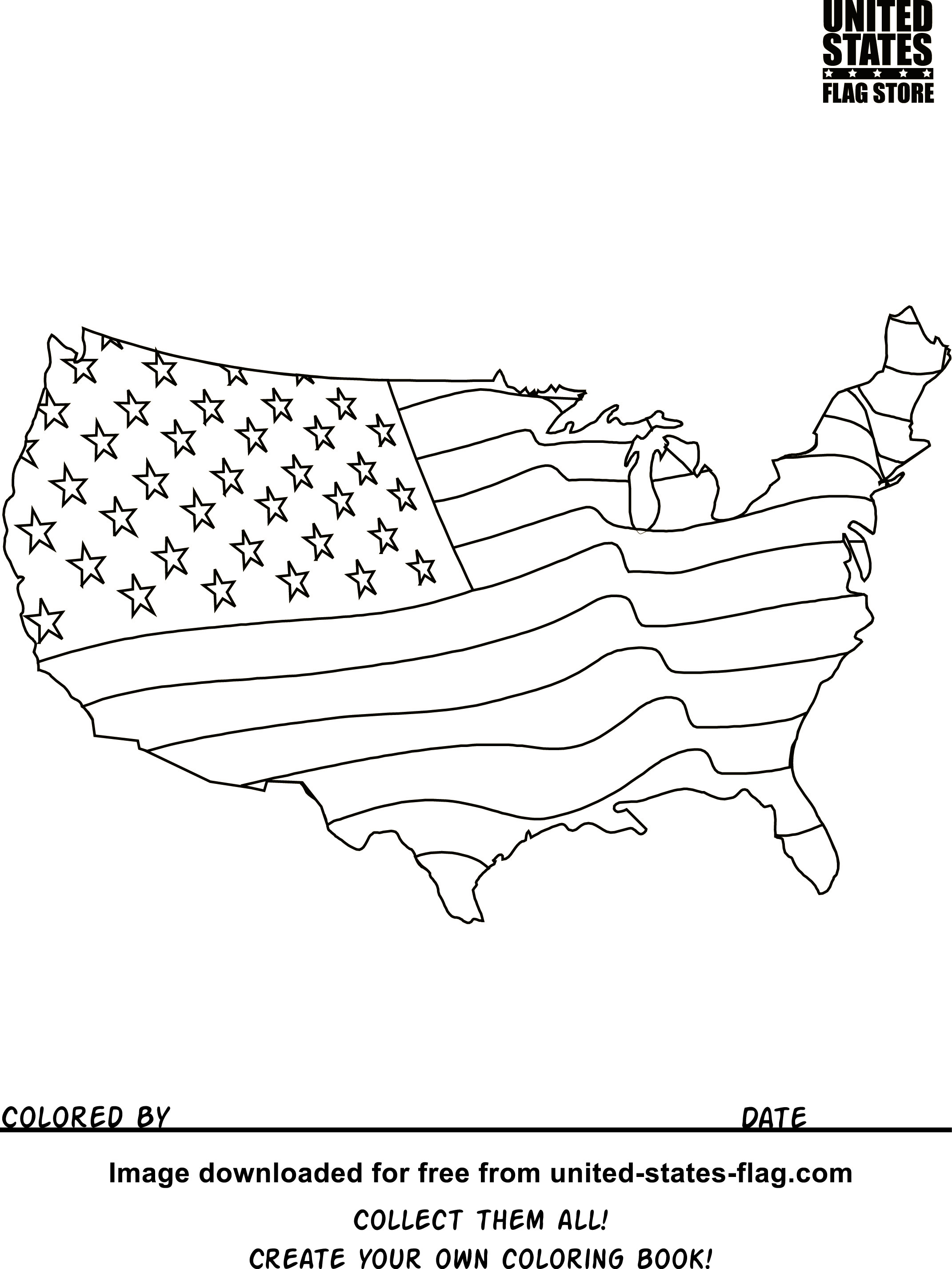 Usa Coloring Pages Free American Flag Coloring Pages