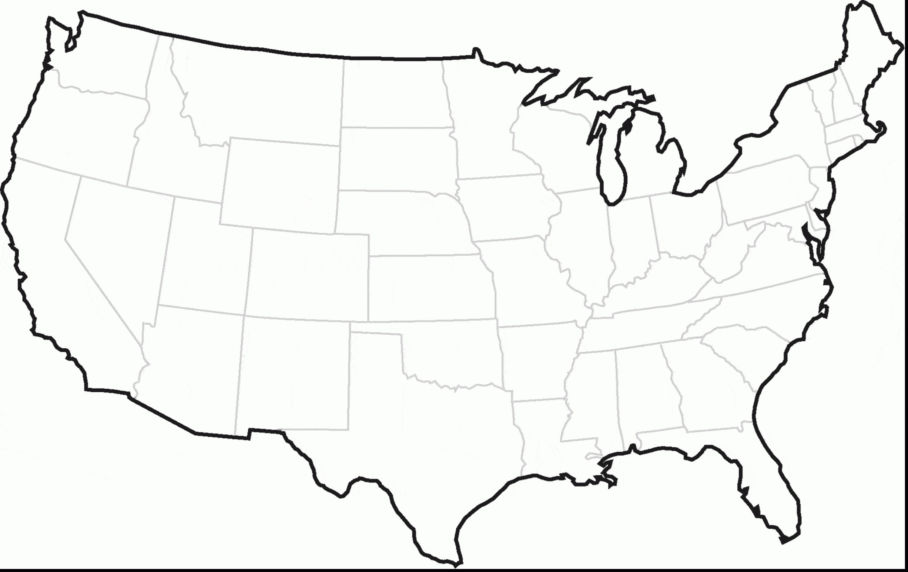 Usa Coloring Pages Us State Map Coloring Pages Page Blank United States Archives Free