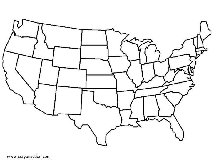 Usa Coloring Pages Us State Map Coloring Pages Unlabeled Of Usa Home Best Bitslice