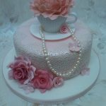 Vintage Birthday Cakes Vintage Lace Birthday Cake My First Time Using Cake Lace A Flickr