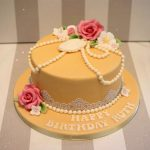 Vintage Birthday Cakes Vintage Pearl And Lace Birthday Cake Bakealous
