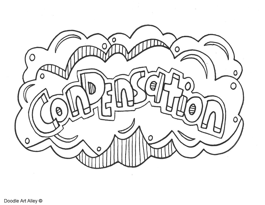 Water Cycle Coloring Page Condensation Orig For Water Cycle Coloring Page Coloring Pages For