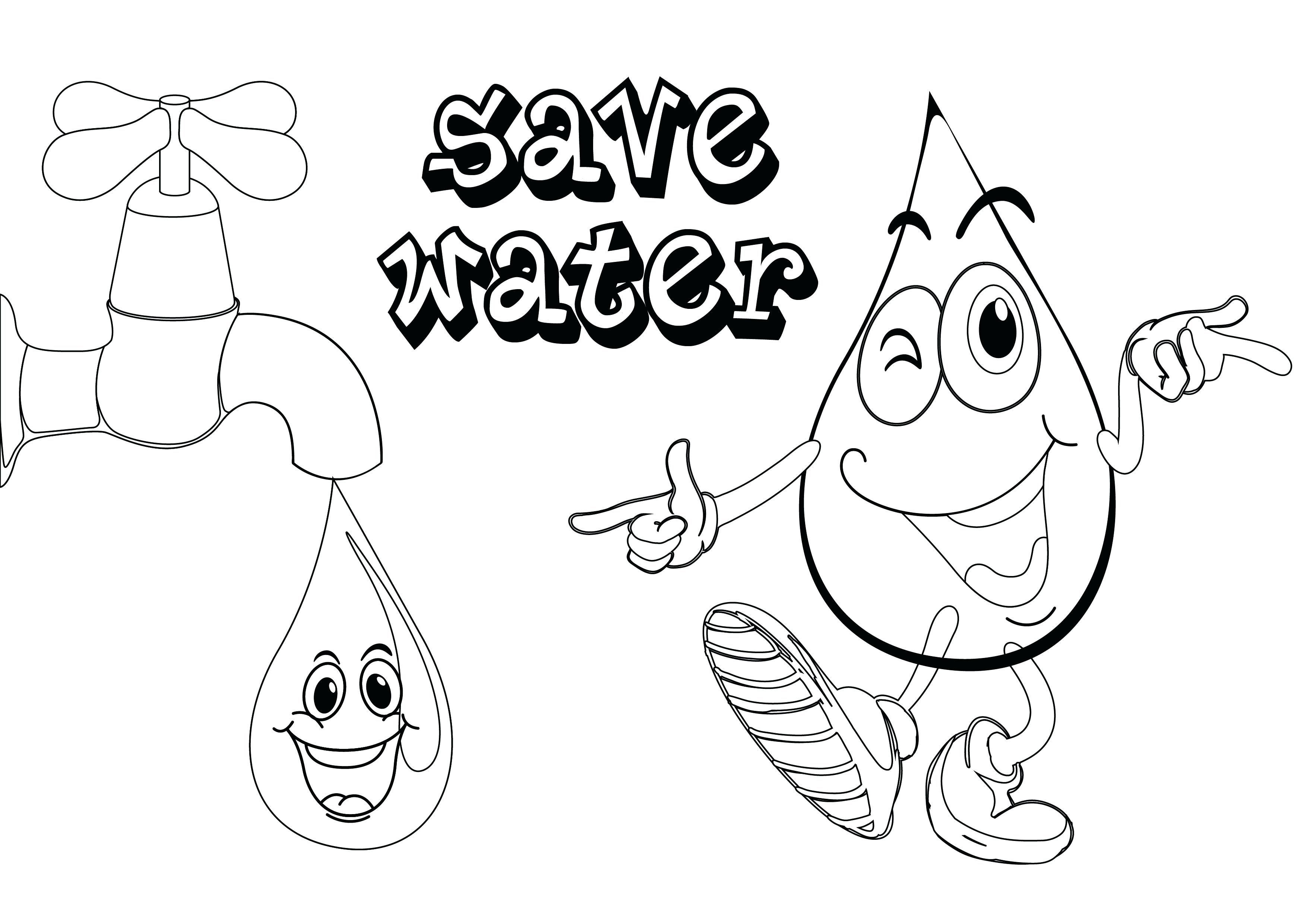 Water Cycle Coloring Page Unique Save Water Coloring Pages Dubaitransport