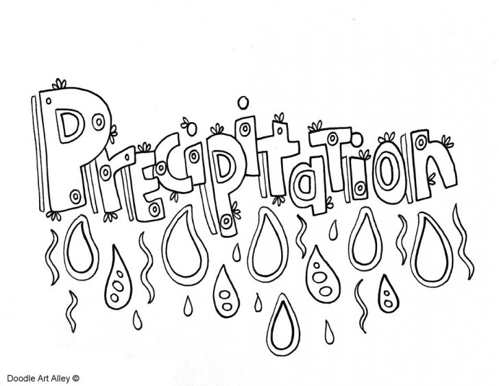 Water Cycle Coloring Page Water Cycle Coloring Pages And Printables Classroom Doodles