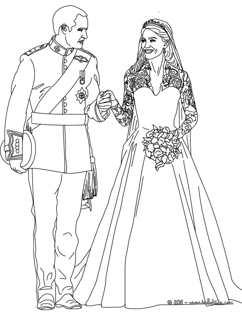 Wedding Coloring Pages The Royal Wedding Coloring Pages Hellokids