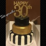 White And Gold Birthday Cake 30th Birthday Cake Black White And Gold Great Gatsy Party Cake