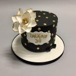 White And Gold Birthday Cake Birthday Cakes Belfast French Village