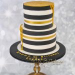 White And Gold Birthday Cake Monochrome Black And White With Gold Drip Birthday Cake Little