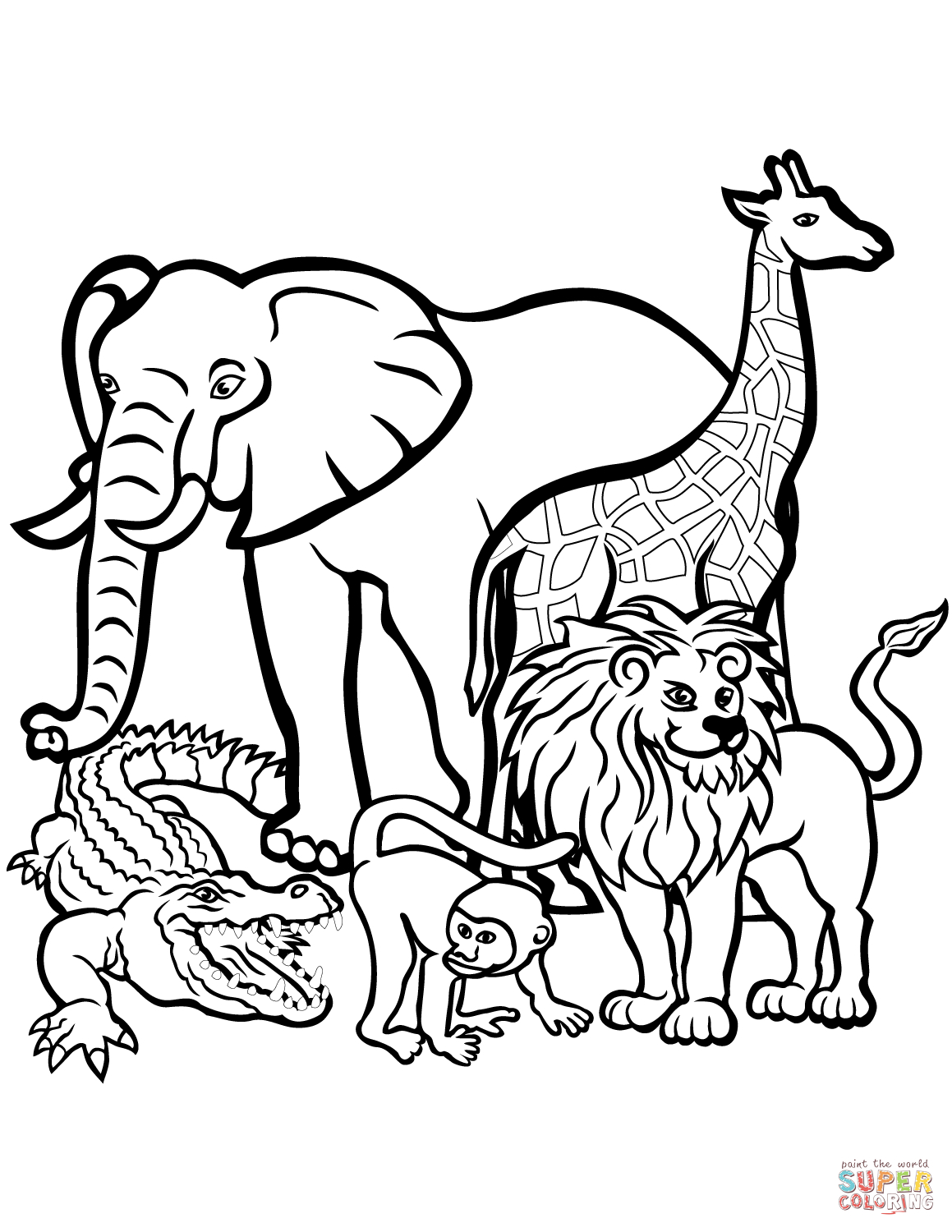 27+ Exclusive Picture of Zoo Animals Coloring Pages