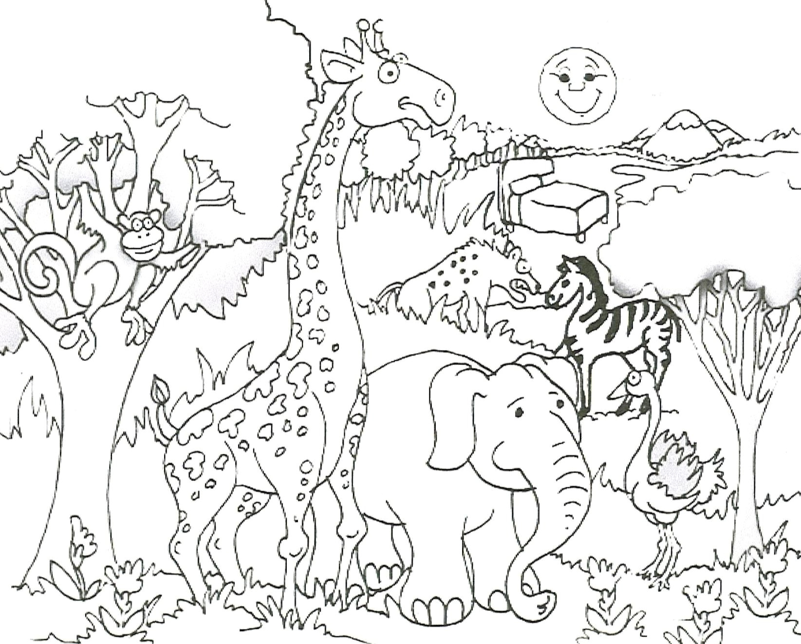 Zoo Animals Coloring Pages Zoo Animal Coloring Pages For Kids 17 F Pics Animals Telematik