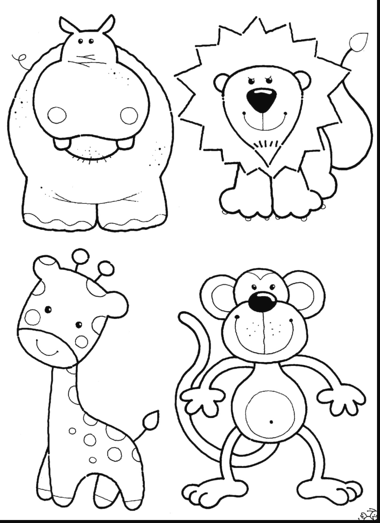 Zoo Animals Coloring Pages Zoo Animal Coloring Pages To Print Color Pages Animals Coloring