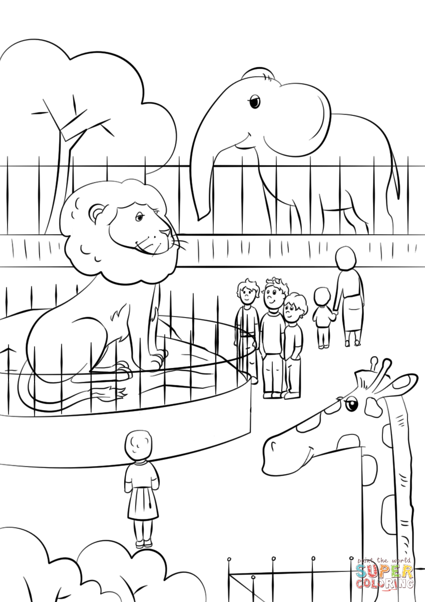 Zoo Animals Coloring Pages Zoo Animals Coloring Page Free Printable Coloring Pages