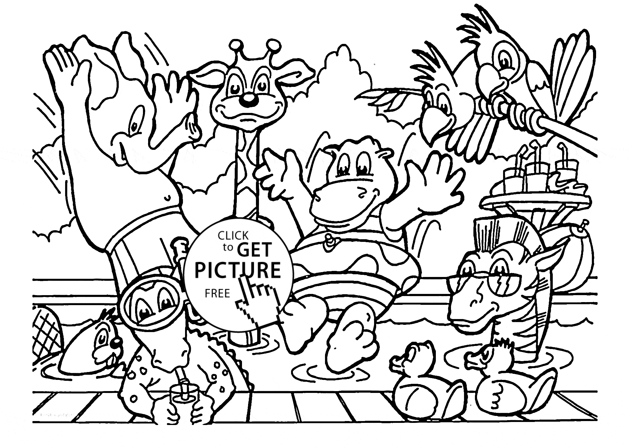 Zoo Animals Coloring Pages Zoo Animals Coloring Pages Elegant Photos Free Ba Animal Coloring