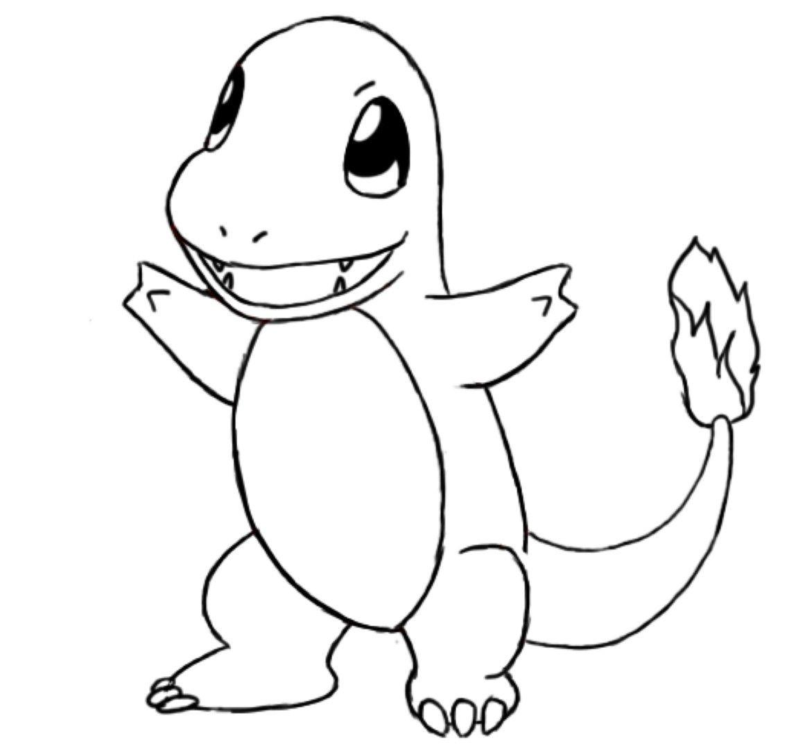 Charmander Coloring Page Pokemon