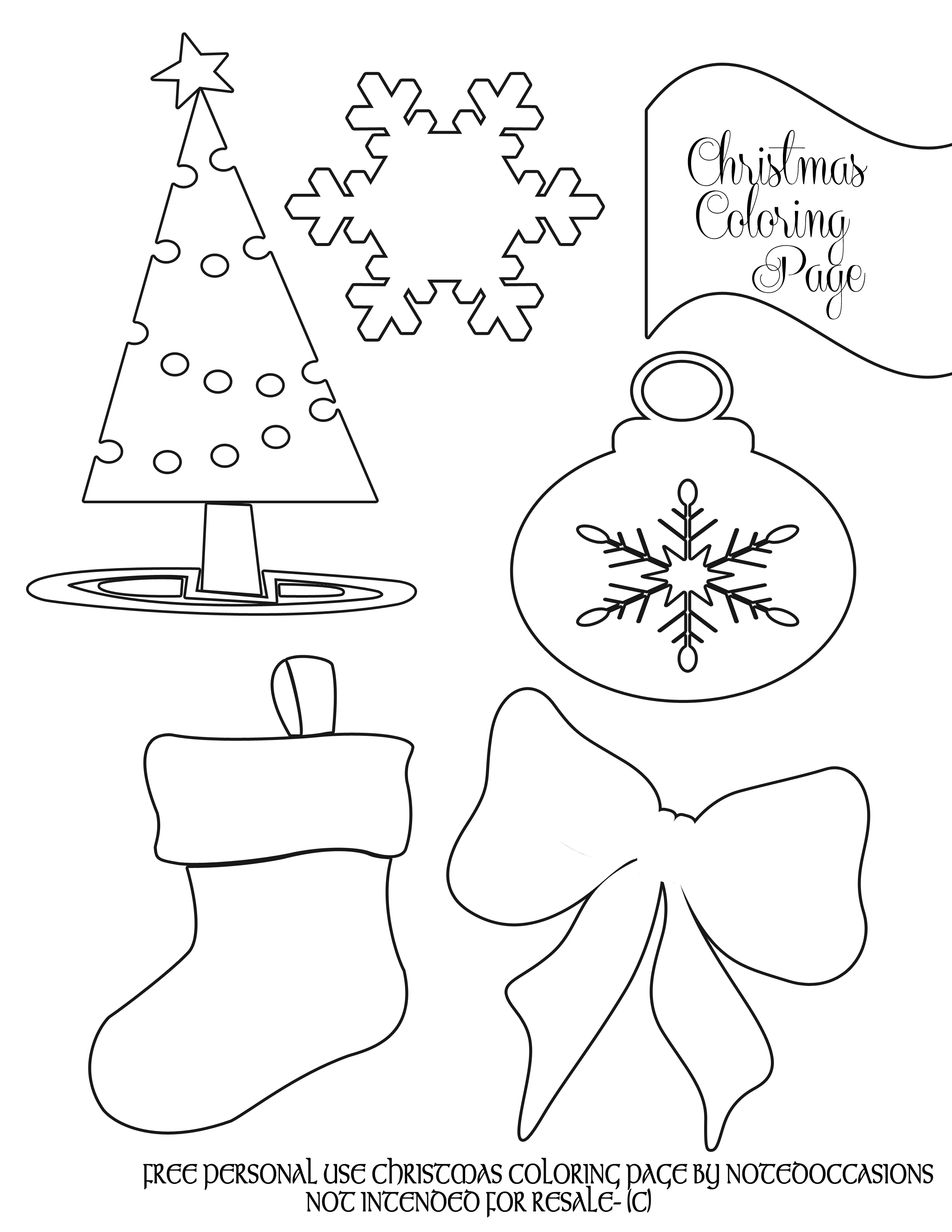 27+ Great Picture of Christmas Coloring Pages To Print Free