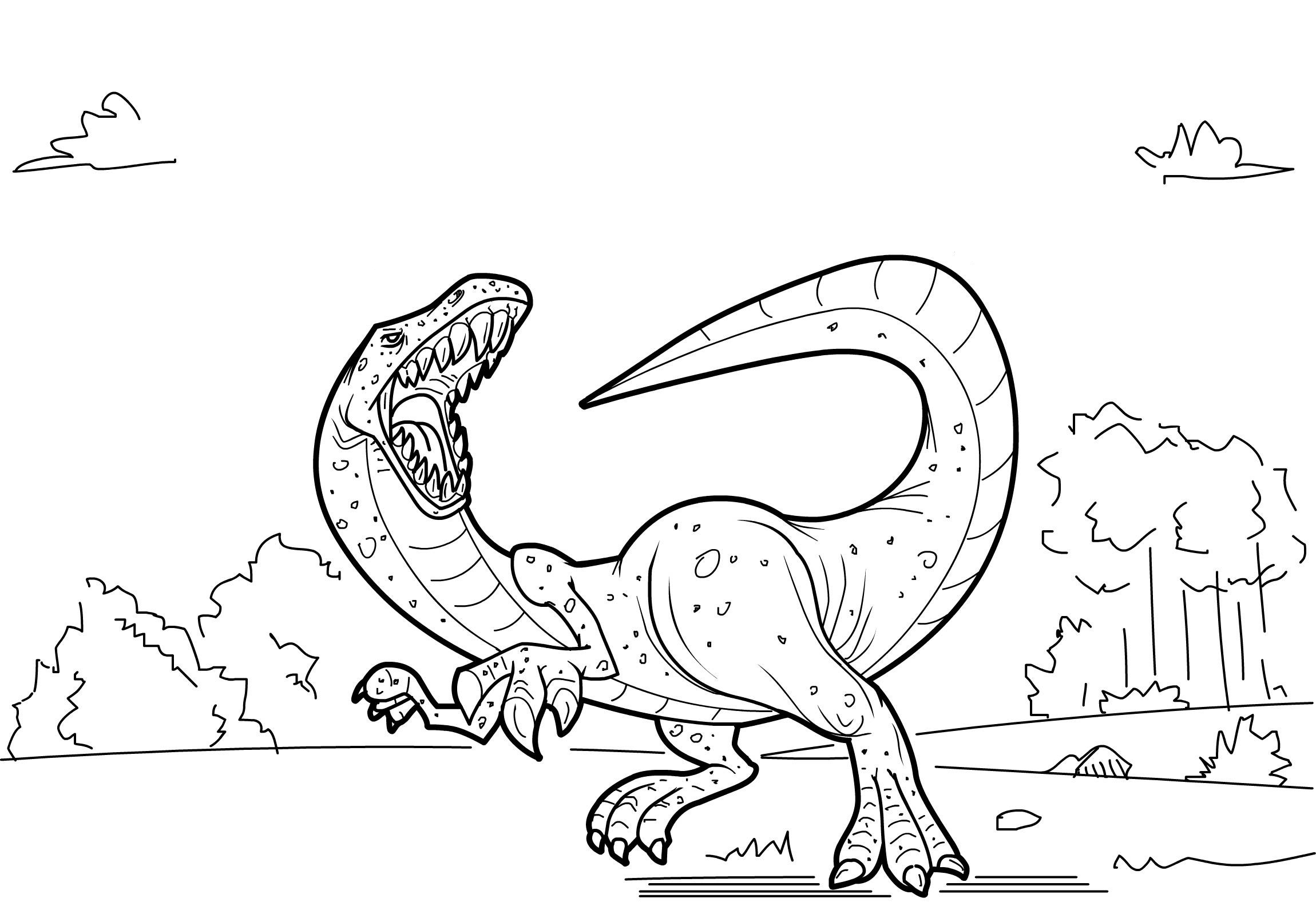 Dinosaur Coloring Pages Free Printable