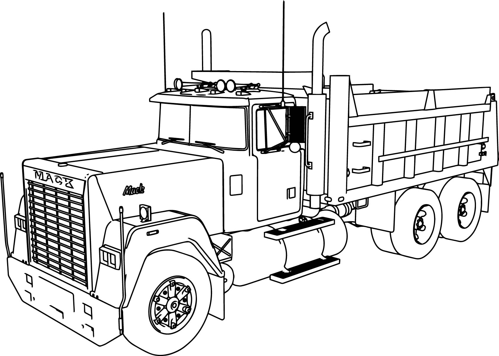 25+ Inspiration Image of Dump Truck Coloring Pages ...