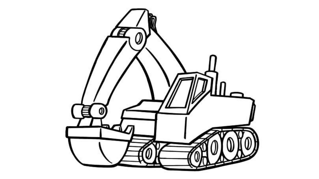 Inspired Picture of Excavator Coloring Page ...