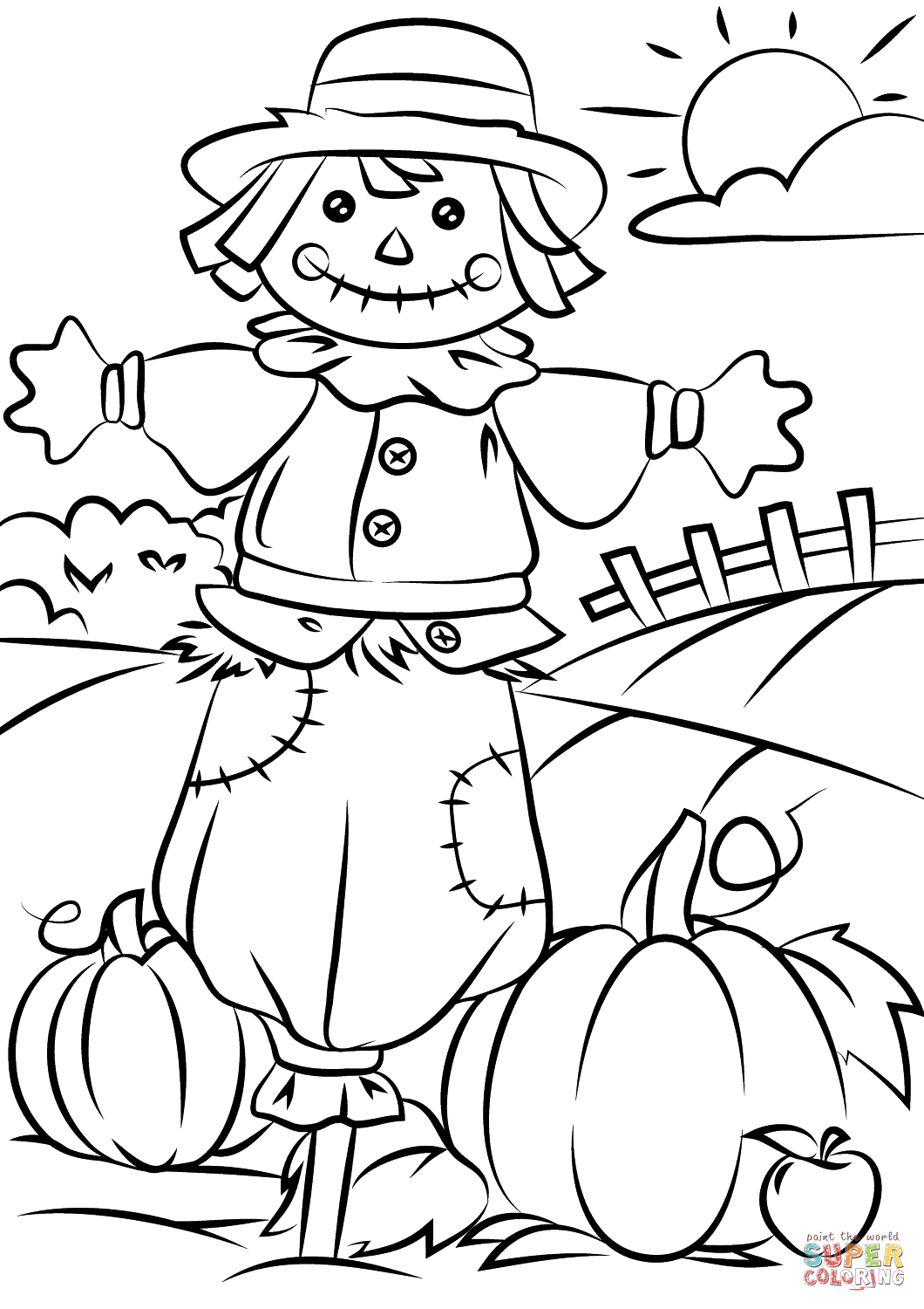 25+ Pretty Image of Fall Coloring Page