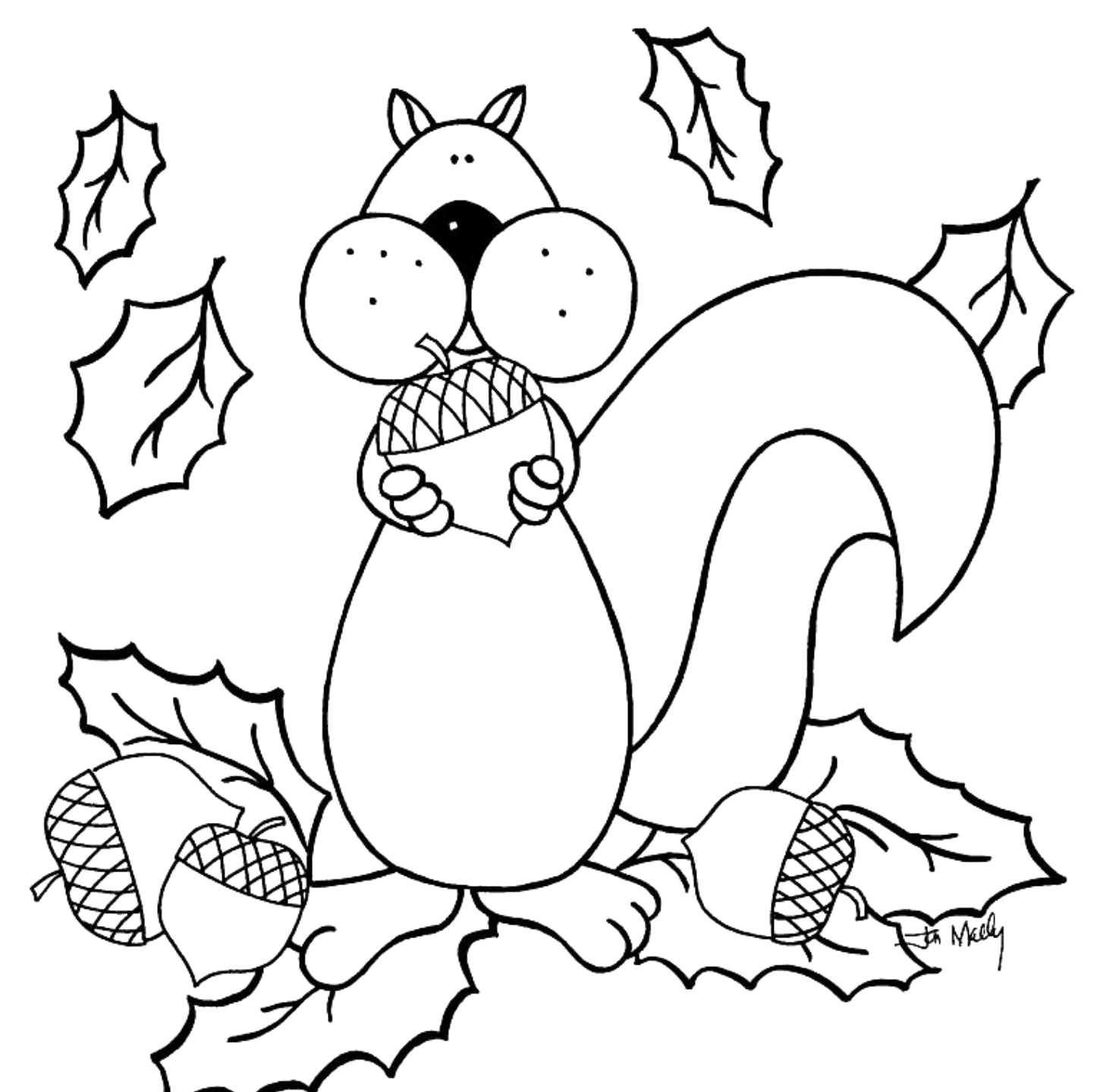 Fall Coloring Page Free Printable