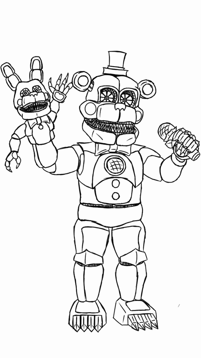 It is a graphic of Declarative Five Nights at Freddy's Coloring Pages Printable