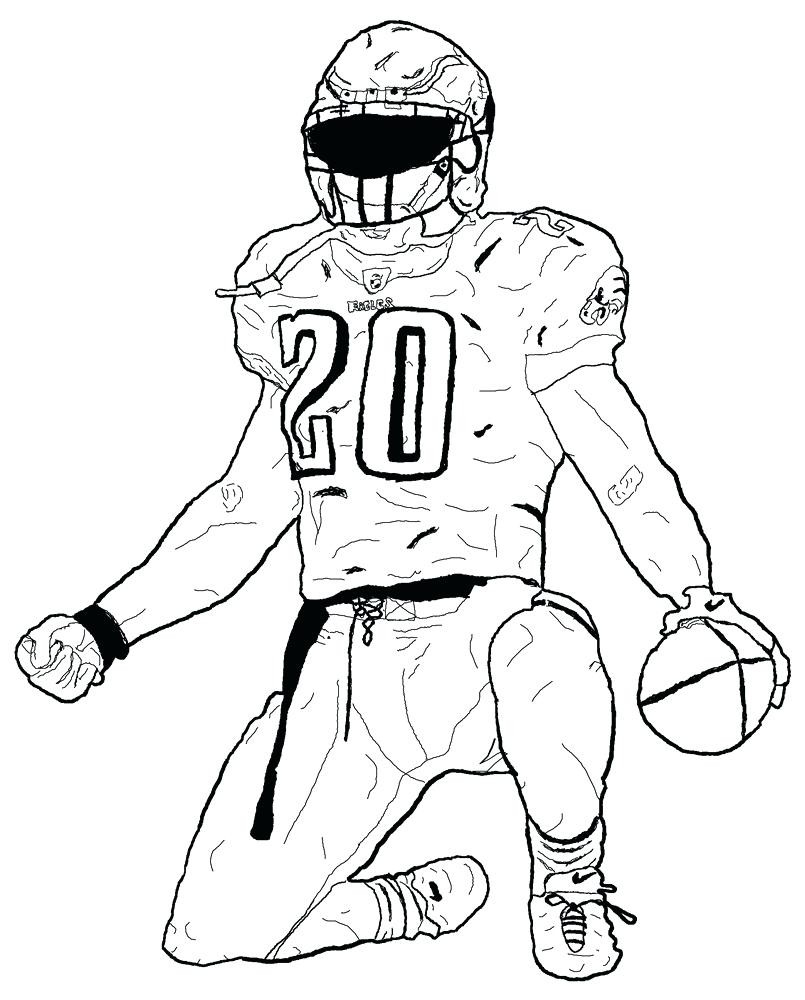Football Coloring Pages Nonsensical