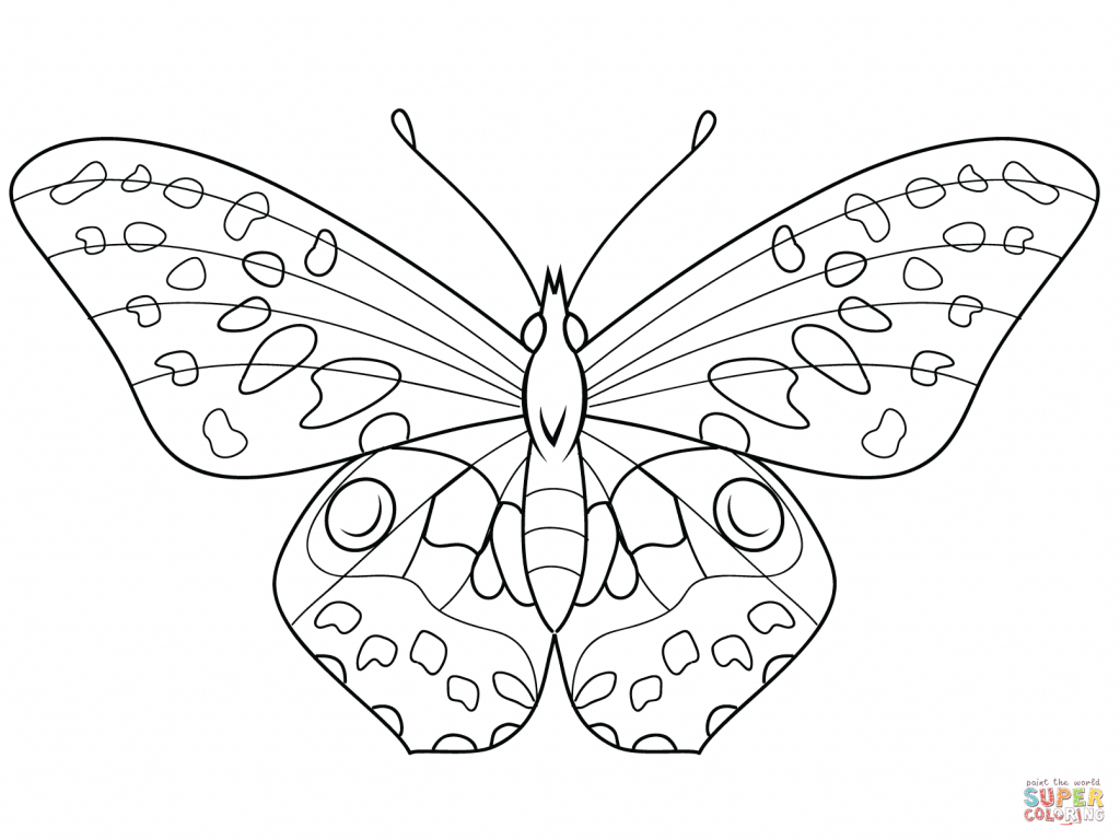 Free Butterfly Coloring Pages Coloring