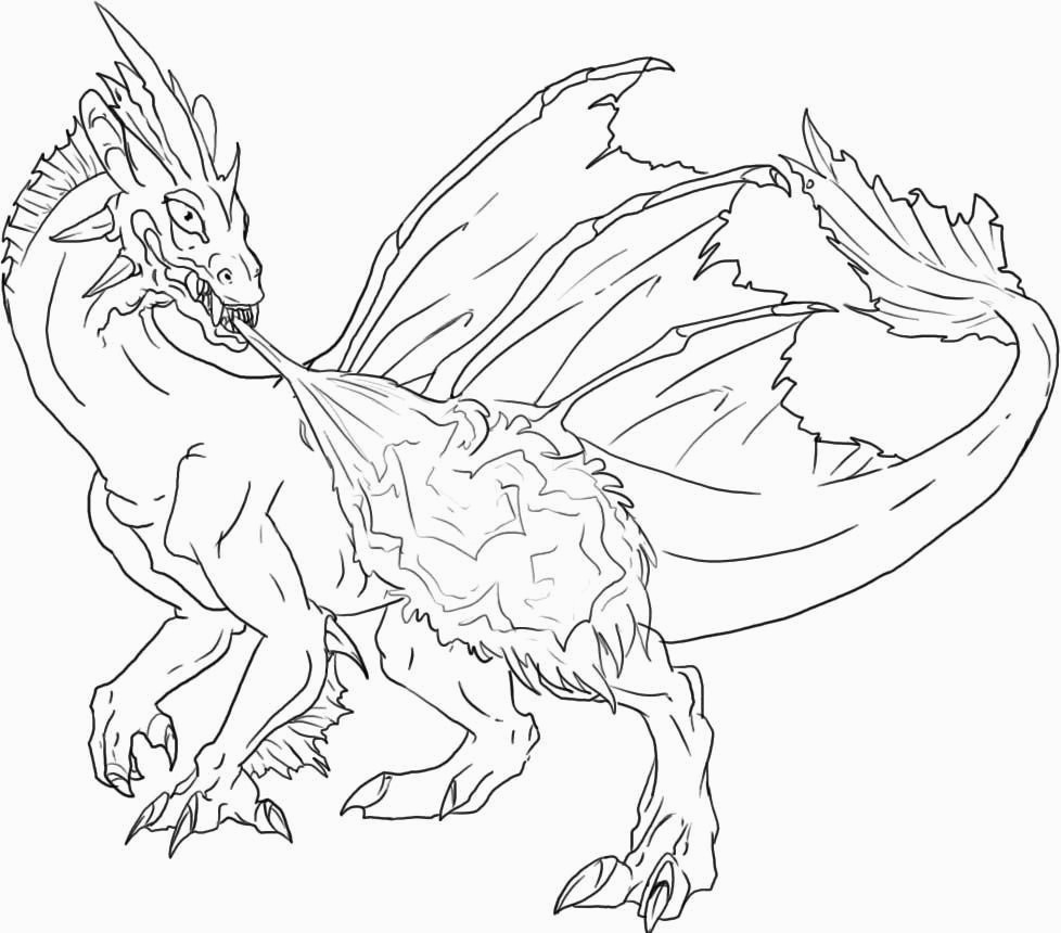 Free Dragon Coloring Pages Free