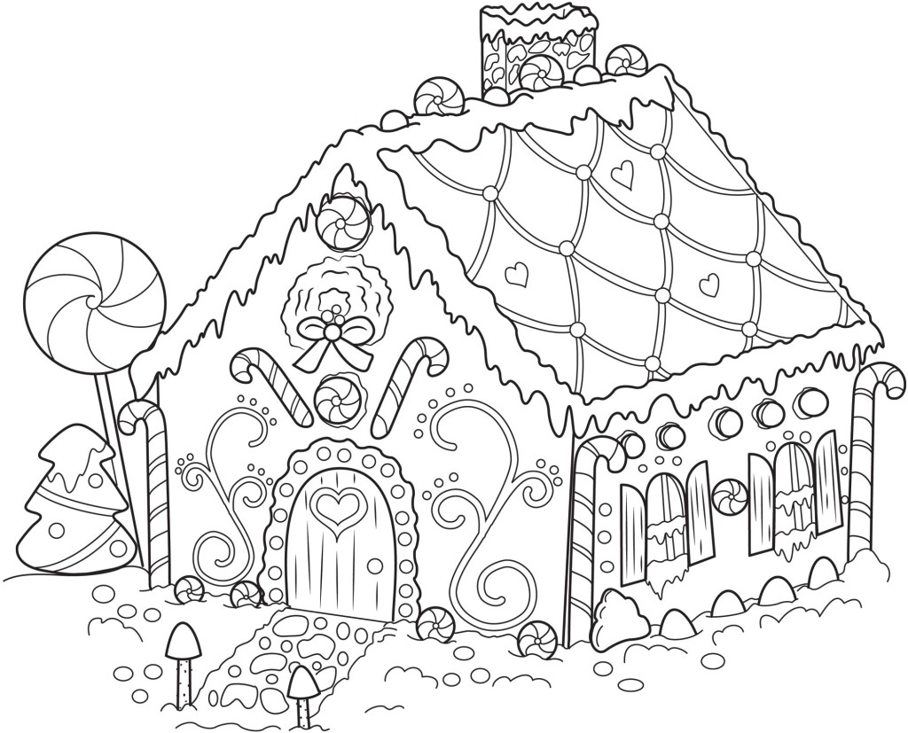 Gingerbread Coloring Pages Free
