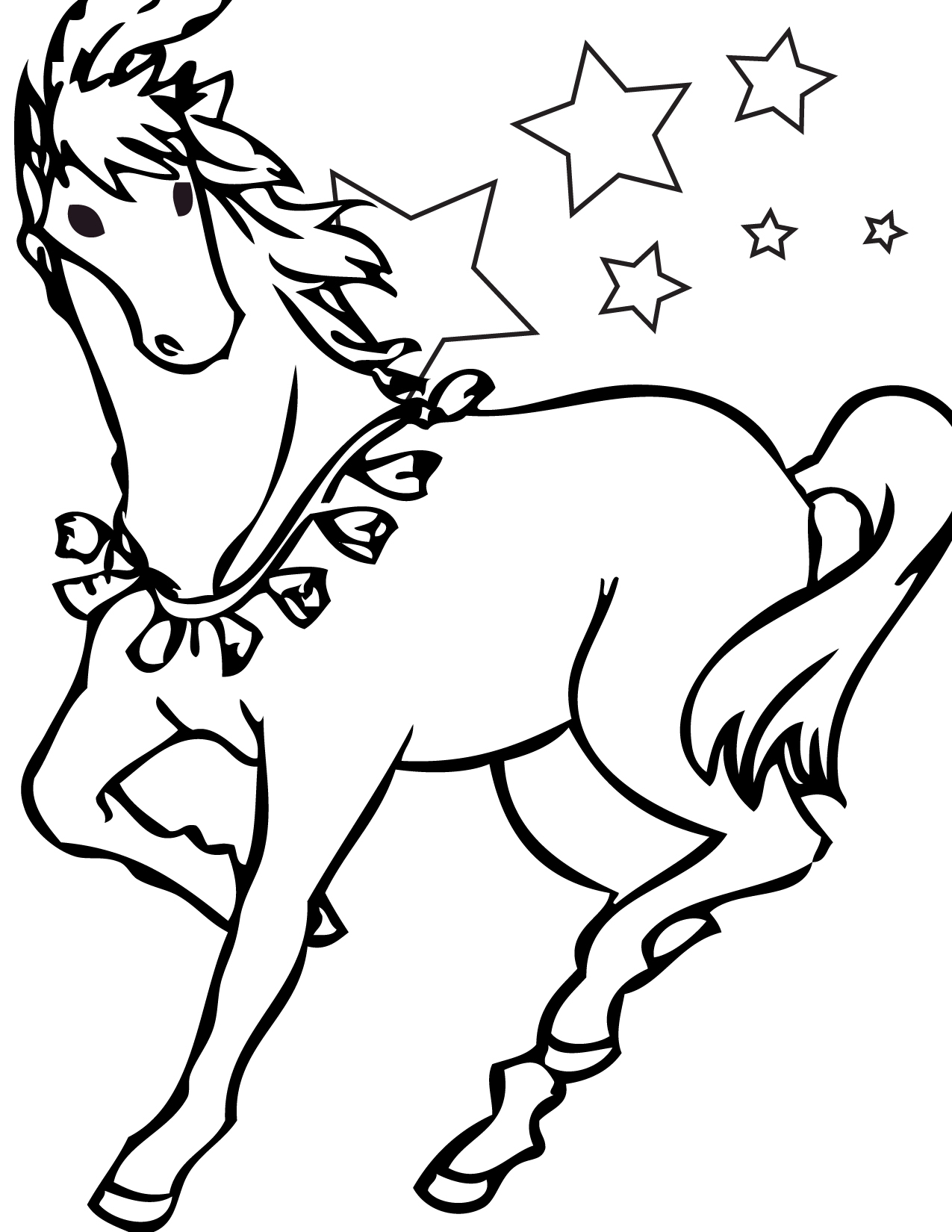 Horse Coloring Page Free Printable