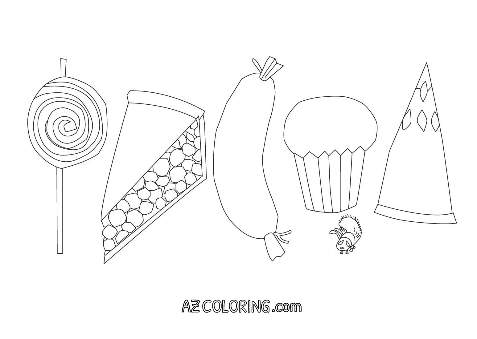 Hungry Caterpillar Coloring Pages Coloring Pages Very Hungry Caterpillar Page Az Printables To Print
