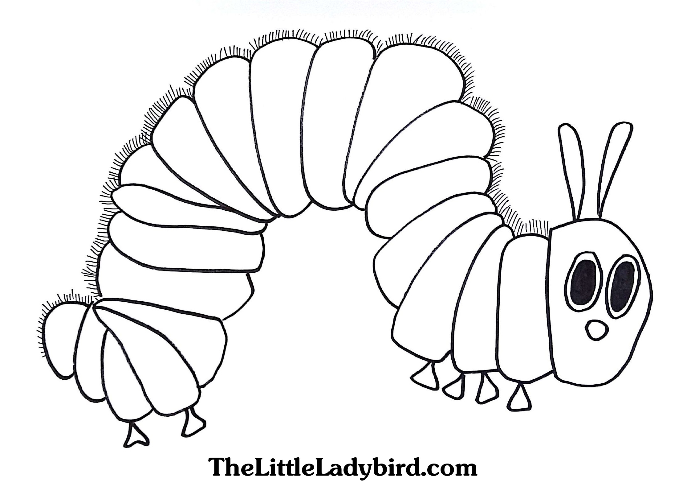 Hungry Caterpillar Coloring Pages Free The Hungry Caterpillar Coloring Page Thelittleladybird