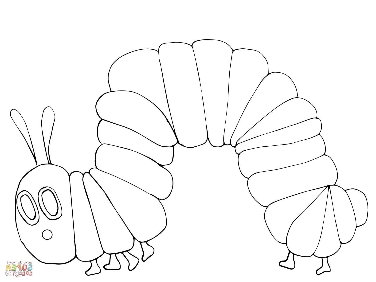 Hungry Caterpillar Coloring Pages Hungry Caterpillar Butterfly Coloring Page Refrence Very Hungry