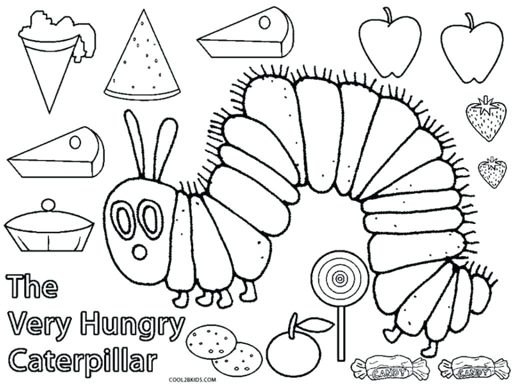 Hungry Caterpillar Coloring Pages The Very Hungry Caterpillar Coloring S Motionacademyco Coloring