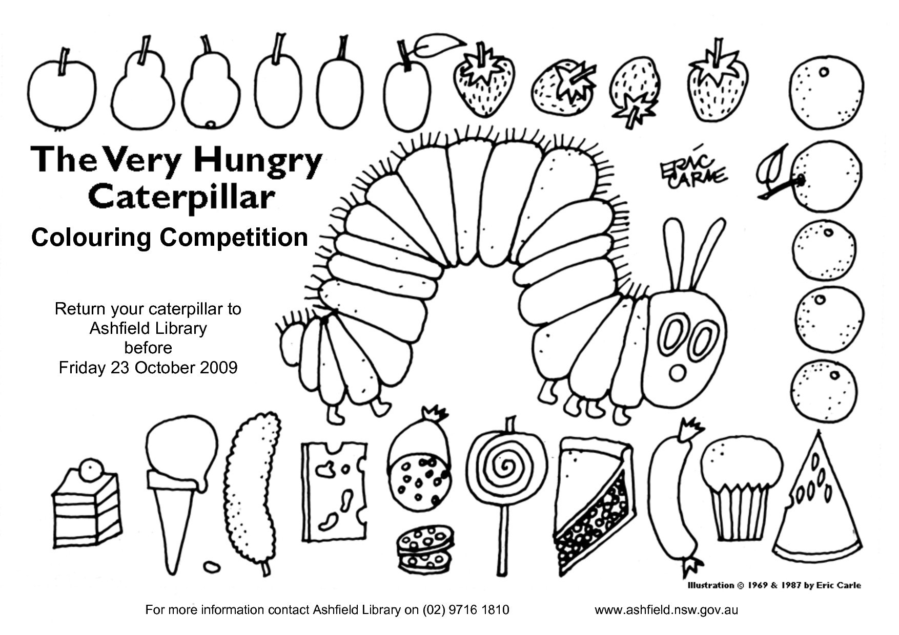 Hungry Caterpillar Coloring Pages Very Hungry Caterpillar Coloring Pages Lovely Petitive Free Download
