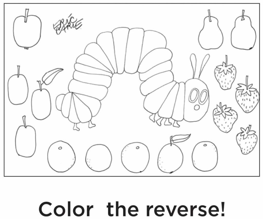 Hungry Caterpillar Coloring Pages Very Hungry Caterpillar Coloring Pages Monesmapyrene